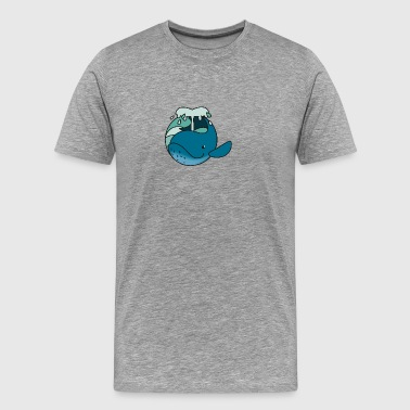 wal runt - Premium-T-shirt herr