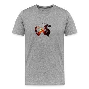 Flammendrache - Männer Premium T-Shirt