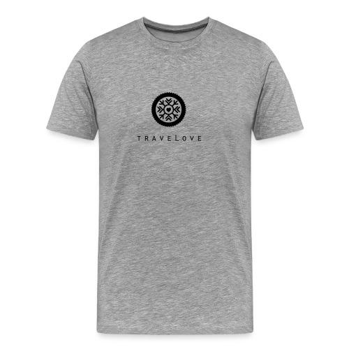 TraveLove schwarzer Aufdruck - Männer Premium T-Shirt