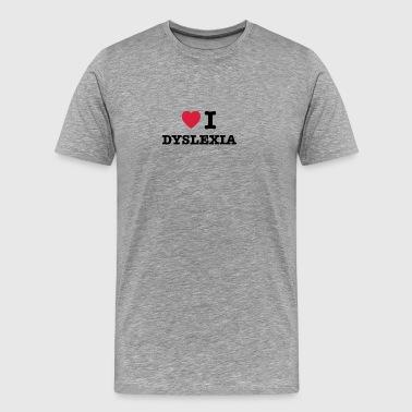 Jag hjärtdyslexi - Premium-T-shirt herr