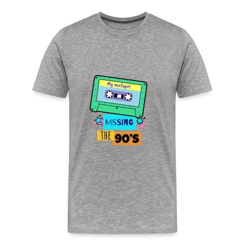 Missing The Ninetees Tape Mixtape - Männer Premium T-Shirt