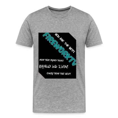 Das beste für den pyro - Männer Premium T-Shirt