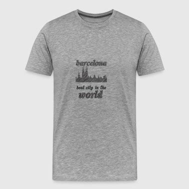 Barcelona Najlepsze miasto na świecie - Koszulka męska Premium