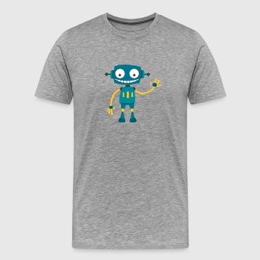 Robot heureux - T-shirt Premium Homme