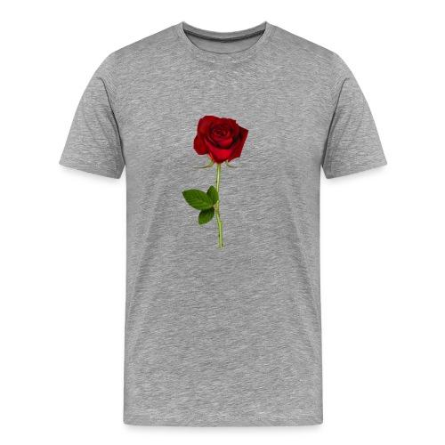 Rød Rose - Herre premium T-shirt