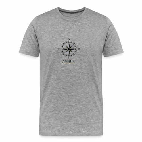 Amour Compass Logo - Men's Premium T-Shirt