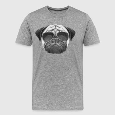 mops mops - Premium T-skjorte for menn
