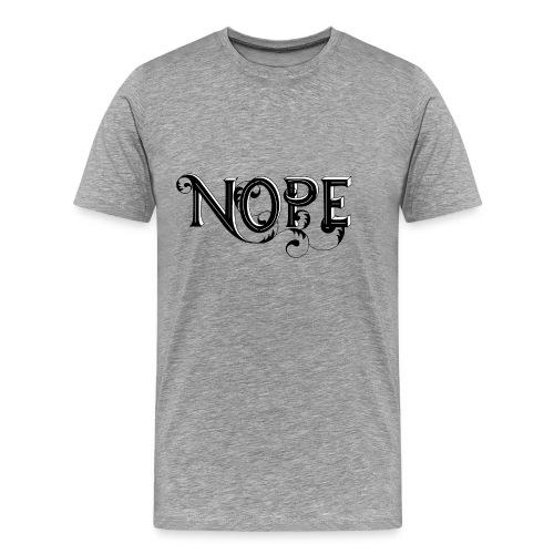 Black NOPE - Men's Premium T-Shirt