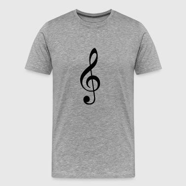 nuottiavain - Miesten premium t-paita