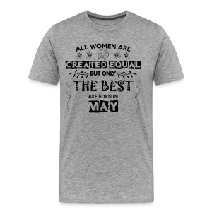 Woman Birthday May - Men's Premium T-Shirt