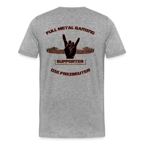 Supporter der Freibeutercommunity - Design by HpT - Männer Premium T-Shirt