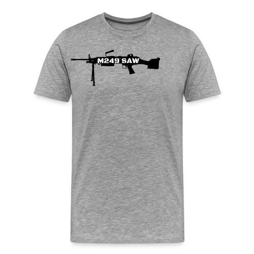 M249 SAW light machinegun design - Mannen Premium T-shirt