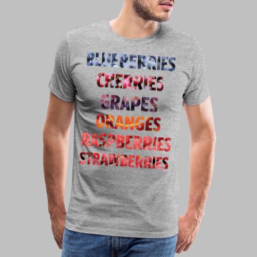 Fruechte Beeren Worte - Männer Premium T-Shirt