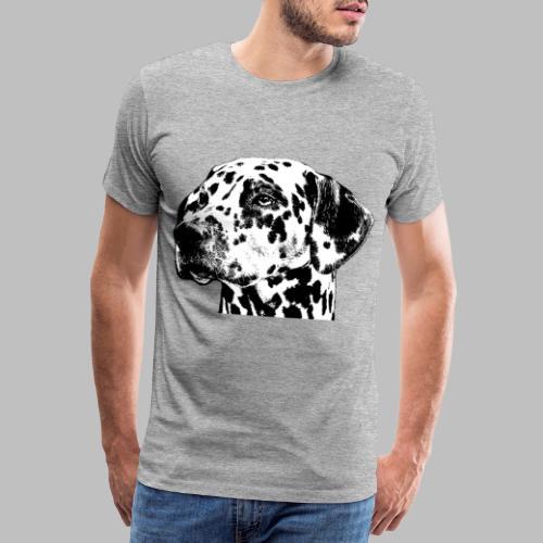 Dalmatiner Kopf Hund - Männer Premium T-Shirt