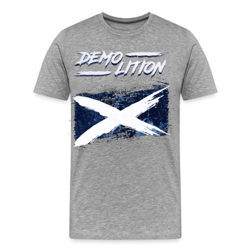 Scottish Flag Demolition - Men's Premium T-Shirt