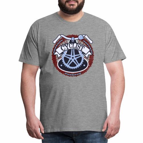 Cyclist Bike Shirt Grunge Retro Radfahrer Shirt - Männer Premium T-Shirt