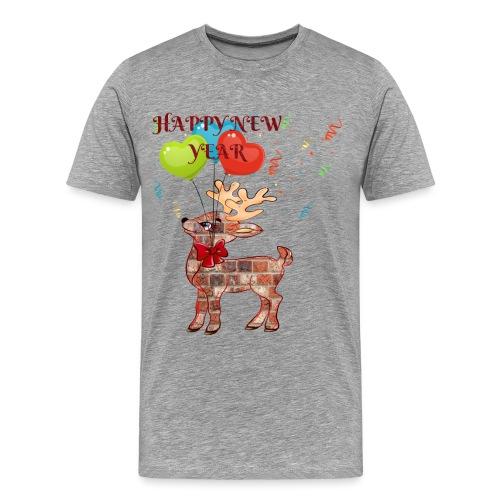 Rudolph Santa HAPPY NEW YEAR 2019 - ZERO - T-shirt Premium Homme