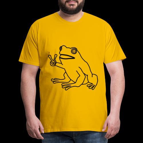 Funny Animal Frog Frosch - Männer Premium T-Shirt