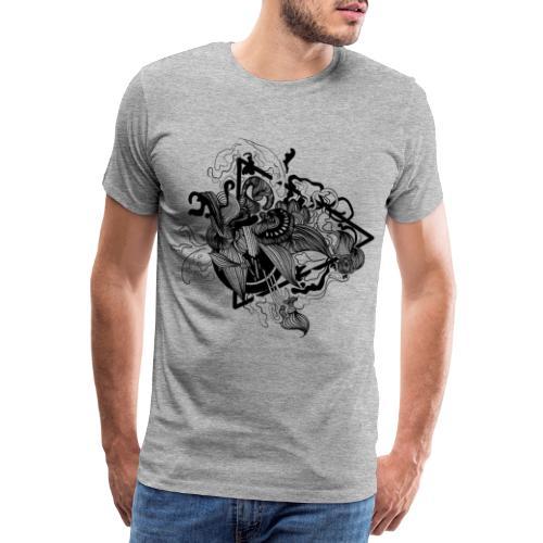 Abstract ink Doodle - Maglietta Premium da uomo