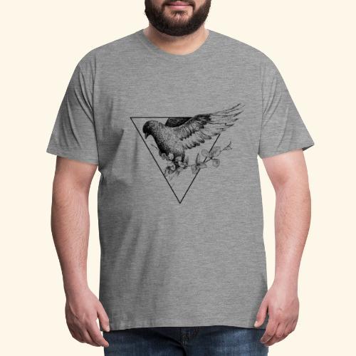 Taube der Liebe Dreieck - Männer Premium T-Shirt