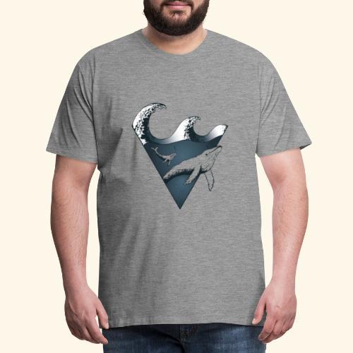 Buckelwal - Männer Premium T-Shirt