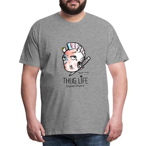 Stef 0004 00 Das Leben ist kein Ponyhof - Männer Premium T-Shirt