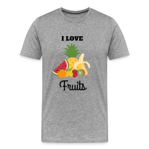 I Love Fruits - T-shirt Premium Homme