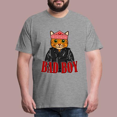 Bad boy chat roux rockeur - T-shirt Premium Homme