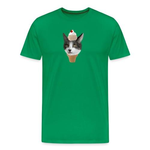 Ice Cream Cat - Männer Premium T-Shirt