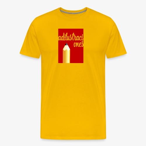 Ad ilustraciones Rojo - Camiseta premium hombre