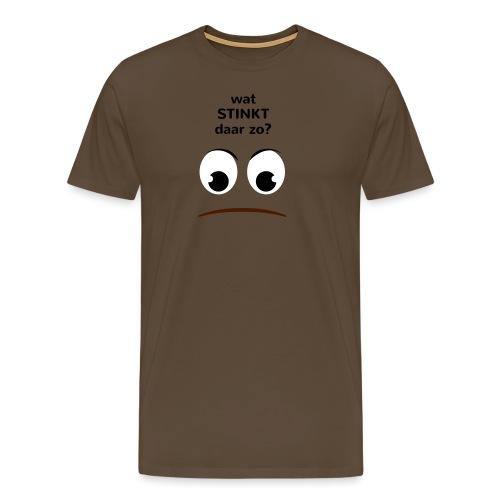 Grappige Rompertjes: Wat stinkt daar zo - Mannen Premium T-shirt