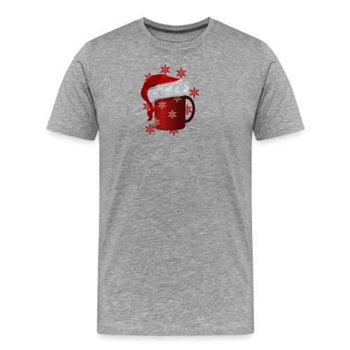 Gluehwein mit Muetze - Männer Premium T-Shirt
