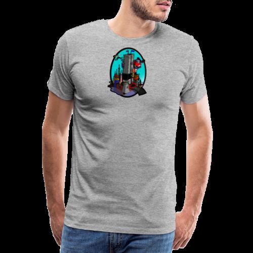 Queen Kong Schloss Türkis - Männer Premium T-Shirt