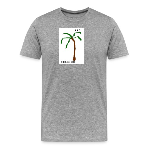 Draw-palm-brown-green - Premium-T-shirt herr
