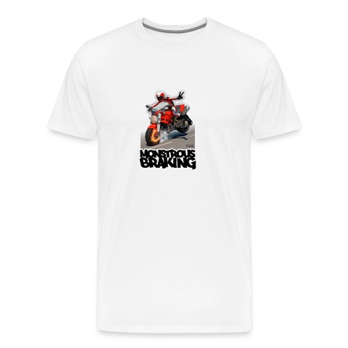 Ducati Monster, a motorcycle stoppie. - Camiseta premium hombre