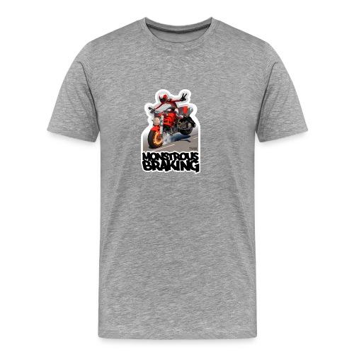 Ducati Monster, a motorcycle stoppie. - Camiseta premium hombre