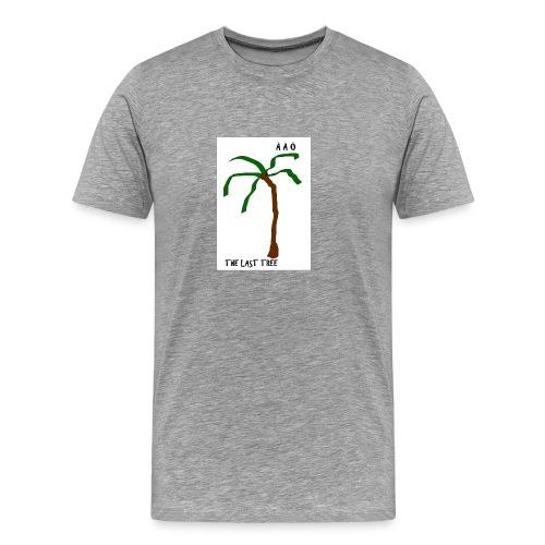 Draw-palm-brown-green - Premium-T-shirt herr
