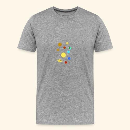 Solsystemet - Premium-T-shirt herr