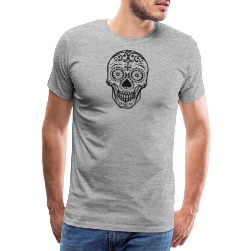 Skull black - Männer Premium T-Shirt