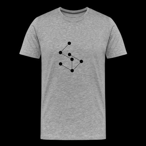 LAN- Laptop Bag, Black Logo - Men's Premium T-Shirt