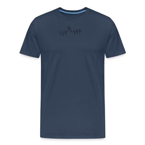 mountain heartbeat - Maglietta Premium da uomo