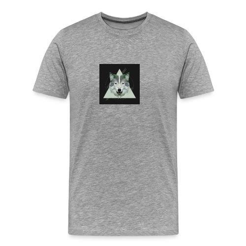 Geo wolf - Men's Premium T-Shirt