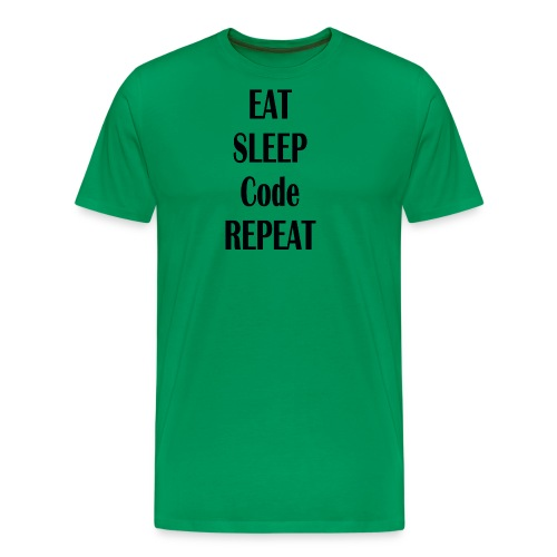 EAT SLEEP CODE REPEAT - Männer Premium T-Shirt