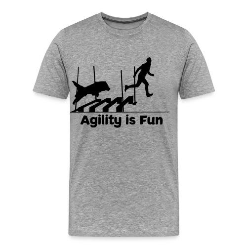 Hundesport Fun Agility - Männer Premium T-Shirt