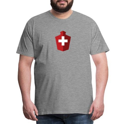 Schweizer Flagge - Schweiz - Männer Premium T-Shirt