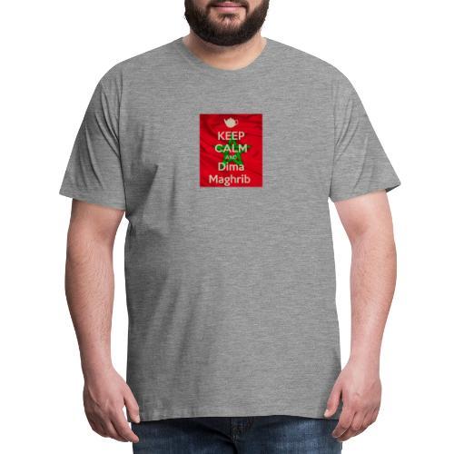 keep calm and dima maghrib - T-shirt Premium Homme