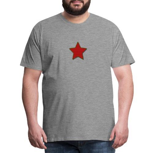 Stella di Natale rossa - Maglietta Premium da uomo