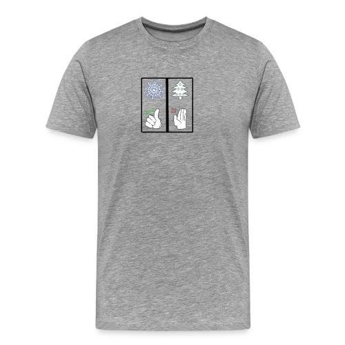Anti Xmas T Shirt Schnee - Männer Premium T-Shirt