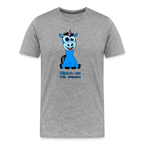 Hermann the Unicorn front - Männer Premium T-Shirt