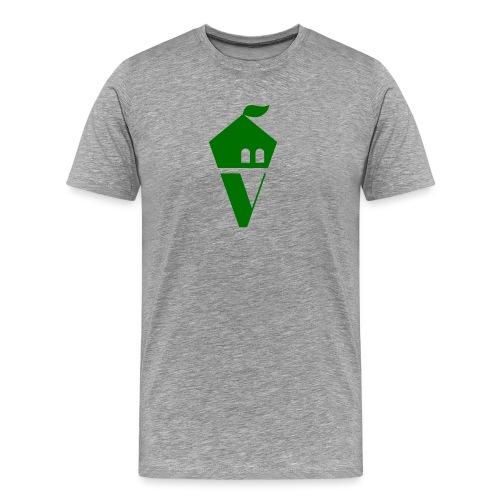 Villekula Logo in Grün auf Schwarz - Männer Premium T-Shirt